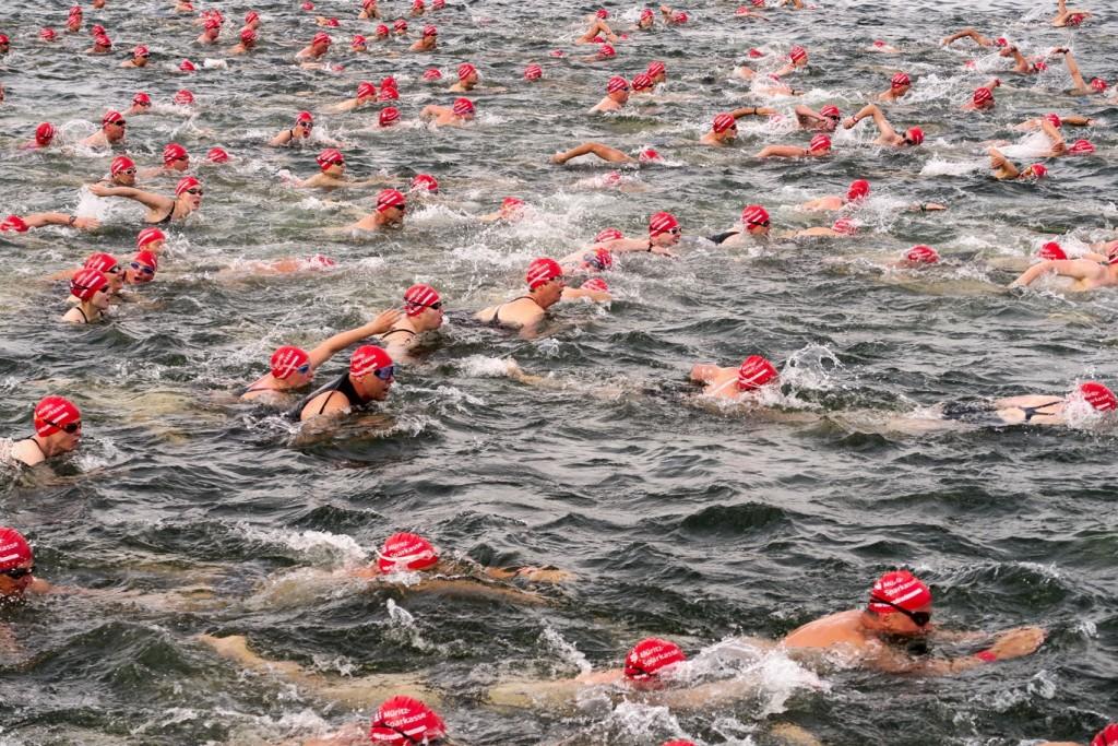 Para los más competitivos, el lago Müritz cuenta con distintas competiciones, entre ellas ésta de natación